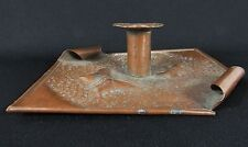 Vintage Arts & Crafts BUTTERFLY Hand Hammered Copper Candle Holder Stand