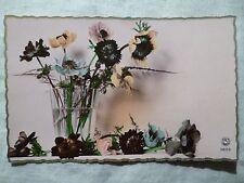cpa cpsm art deco fleur anemone postcard flower windflower cartolina fiore carte