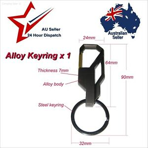 Alloy Metal Key Ring. Ideal to Clip to belt loop bag etc: key fob keys keyring