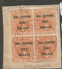 Malaya Jap Oc Perak SG J246 Block of 4 VFU (6cxt)