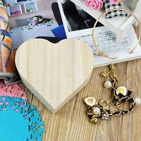Toys Wood Jewelry Box Wooden Crafts Chic Art  DIY Mud Base Love Heart Shape