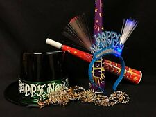 New Year's Eve Hats Tiara Blow Horns & Necklaces Party Accessories Set