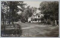 Shore Drive Cottages Devils Lake, Manitou Beach Michigan 1941 Postcard RPPC 6764