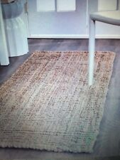 New Barbados Distressed Beige Natural Fiber Jute Rope Woven 2 x 12 FT Runner Rug