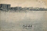ATLANTIC CITY NJ – Ocean Front from Young's Pier - 1908