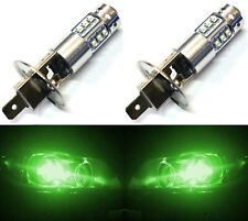 LED 80W H1 Green Two Bulbs Head Light Replacement Show Use High Beam Lamp JDM OE