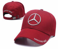 New MERCEDES BENZ² Logo AMG Cap Sport Baseball Hat outdoor Adjustable Red