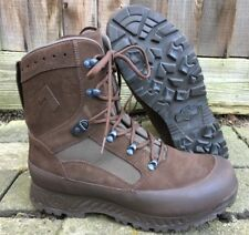 HAIX BROWN SUEDE DESERT HIGH LIABILITY COMBAT BOOTS - Size: 11 Med British Army
