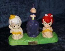 Flintstones Pebbles Bamm Bamm Dino Salt Pepper Shakers Japan Bedrock City Dakota