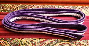 ProForce Thunder White Stripe Purple Rank Martial Arts Belt Size 7 Karate Kempo