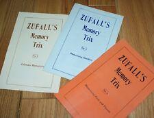"ZUFALL's Memory Trix -- volumes 3, 5 and 6 -- fascinating ""real"" magic!     TMGS"