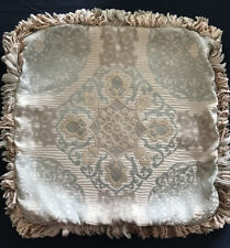 Waterford Decorative Pillow Cover, 18 x 18, Blue & Champagne Damask, Cover Only