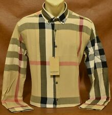 Brand New With Tags Men's BURBERRY Long Sleeve SHIRT Size M to 2XL