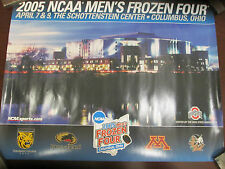 NCAA- 2005 MEN'S FROZEN FOUR-COLUMBUS OHIO- 4 WCHA TEAMS LOGO POSTER