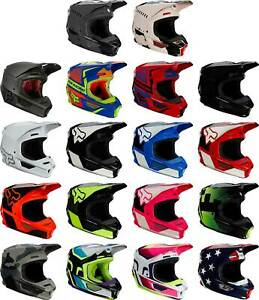 Fox Racing V1 Helmet - MX Motocross Dirt Bike Off-Road ATV MTB UTV Adult