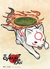 **Legit Poster** Okami Den Game Chibiterasu Jumping Key Art Wallscroll #60789
