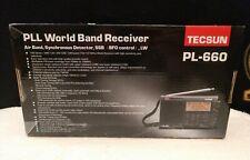Tecsun PL660 AM FM SW Air SSB Synchronous Shortwave PL-660 Radio - Black