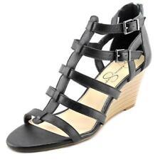 Zapatos de tacón de mujer plataformas Jessica de piel
