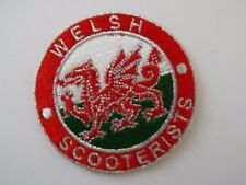 Welsh Scooterist Scooter Biker Embroidered Patch Heavy Mods and Rockers