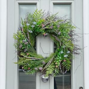 Large 65cm Artificial Flower Door Wreath