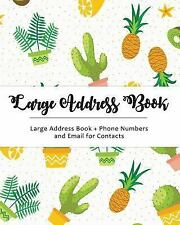 Large Address Book : Jumbo Size for Seniors : Big and Easy to Write - Phone...