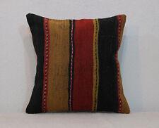 Throw Pillows,Kilim Pillow Cover,Striped Pillow,Kissen,16x16 Kilim Pillow Cover
