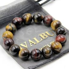 Multi-Color Tiger Eye Gem Tibet Buddhist Prayer Beads Mala Bracelet---14mm