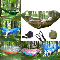 Outdoor Mosquito Net Parachute Hammock Tent Camping Hanging Bed Swing Portable