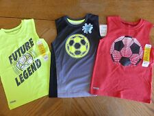New Boy size 4 Top LOT Soccer Summer Clothes $50 retail NWT boys Sports T-shirt