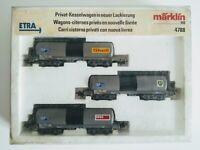 MARKLIN, set carri cisterna Esso,Shell e BP , 4 assi  scala H0 cod.4788
