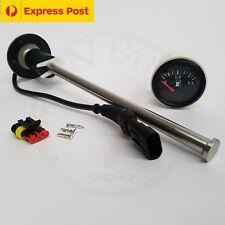 Fuel Sender - 320mm Reed Switch 10-180 Ohms + 12v FUEL GAUGE - BRAND NEW...!