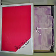 Italian luxury pure mulberry silk satin set sheets for double bed. Lilac color.