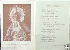 OLD BLESSED VIRGIN OF HOPE HOLY CARD ANDACHTSBILD SANTINI SEE MY EBAY SHOP C1030