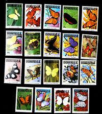 Dominica 1991-1993  fauna butterflies   SCOTT No.1378-1392 , I202006