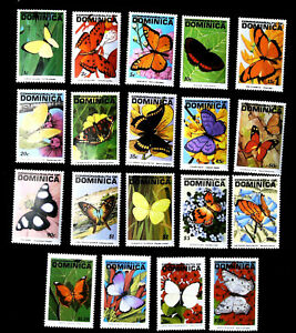 Dominica 1991-1993  fauna butterflies   SCOTT No.1378-1392 , I202006