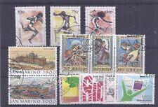 Francobolli - Stamps - San Marino -  4 serie -  usati - 1988