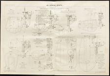 Plan ancien de riveuses électro-hydrauliques. 1909. Rivetage et Industrie.