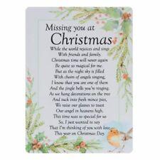 Graveside Memorial Verse Card Keepsake Missing You At Christmas