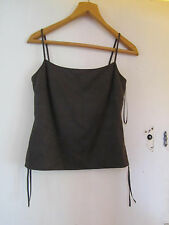 Fitted Brown Moleskin Vest Top by Next in Size 8 / 10 - NWOT - mislabelled