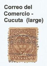 "COLOMBIA. 1892 50c Brown. SG: 130. Large Oval Type on The ""Correo del Comercio"""