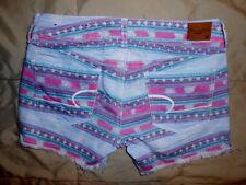American Eagle Womens Shorts AE Print Denim Shorts Size 4