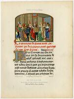 Antique Print-BELLE EURIANT-COURT FEAST-MANUSCRIPT-Thurwanger-1858