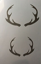 Horns Deer Elk Animal A4 Mylar Reusable Stencil Airbrush Painting Art Craft