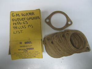 56-63 Chevrolet Truck Water Outlet Gasket NORS (25) 3765024