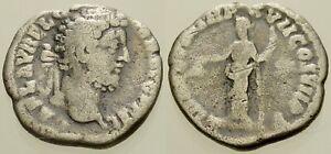 002. Roman Silver Coin. COMMODUS, AR Denarius. Rome. Libertas. Fine