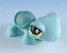 Littlest Pet Shop Turtle #581 Turquoise Blue With Green Eyes