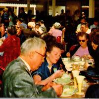 Vintage 1960s Farmers' Market Los Angeles Luncheon Lunch People Food Postcard