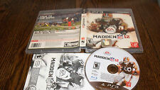Madden Nfl 12 (Sony PlayStation 3, 2011) Used Football Ps3 Video Game Fun