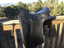 Heather Moffett Fhoenix Vogue Dressage Saddle Treeless Soft Treed 17/18""