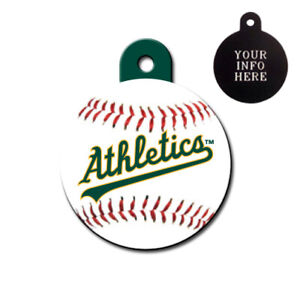 OAKLAND ATHLETICS MLB - CUSTOMIZED - PET TAG - CIRCLE Shape - Tag-Z Dog Tags